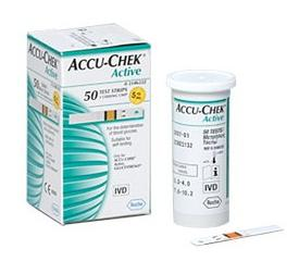 Тест-полоски Акку-Чек Актив (ACCU CHECK Active) 50 штук